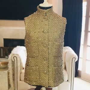 Chanel Classic Vest in Gold/Beige